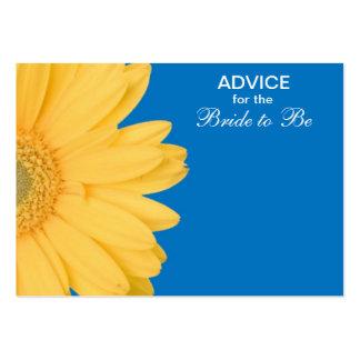 Consejo amarillo y azul de la margarita de Gerber  Plantilla De Tarjeta De Visita