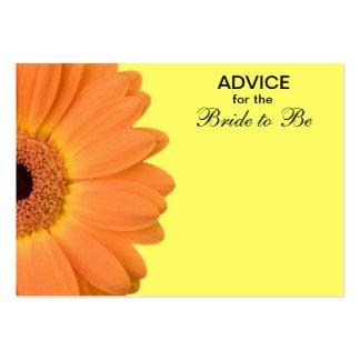 Consejo anaranjado y amarillo de la margarita de plantillas de tarjeta de negocio