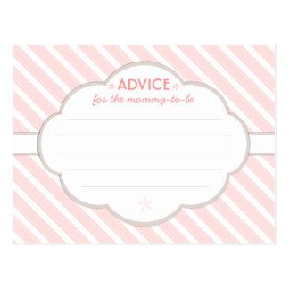 Consejo blanco de la fiesta de bienvenida al bebé  tarjeta postal