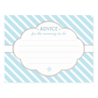 Consejo blanco de la fiesta de bienvenida al bebé  tarjetas postales