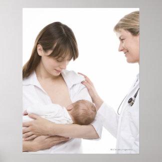 Consejo de amamantamiento de un doctor póster