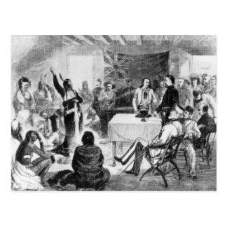 Consejo de Bull de sentada, 1877 Tarjetas Postales