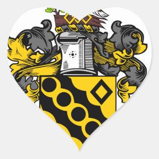 Consejo de ciudad de Heywood - escudo de armas Calcomania Corazon Personalizadas