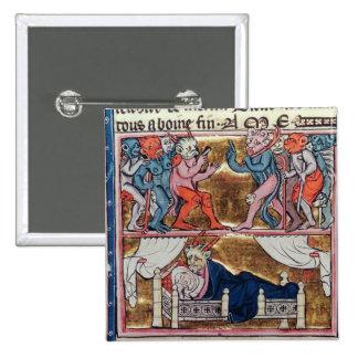 Consejo de demonios, del 'l'Histoire de Merlin' Pin Cuadrado