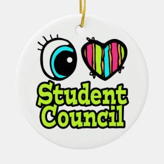 Consejo de estudiantes brillante del amor del ornato