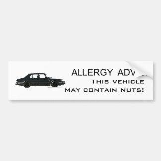 Consejo de la alergia pegatina de parachoque