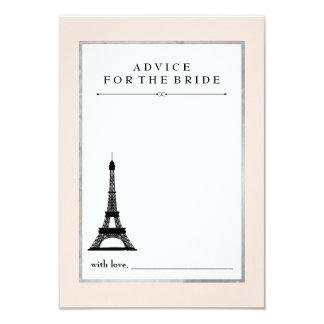 """Consejo de la elegancia de París para la novia Invitación 3.5"""" X 5"""""""