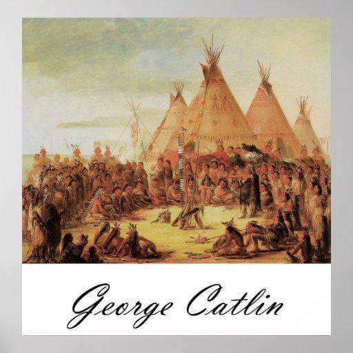 Consejo de la guerra de George Catlin Siux Impresiones