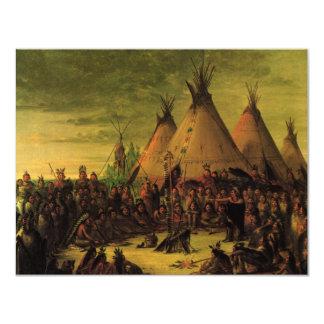 Consejo de la guerra de Siux (tipis) por George