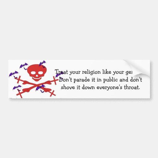 Consejo de la religión etiqueta de parachoque