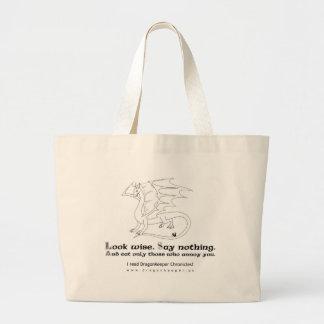 Consejo de un dragón bolsa tela grande