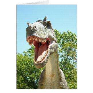 Consejo del dinosaurio del feliz cumpleaños tarjeta de felicitación