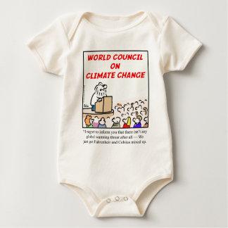 Consejo mundial en cambio de clima mameluco de bebé