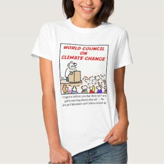 Consejo mundial en cambio de clima remera