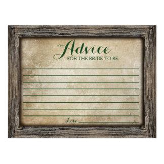 Consejo para la tarjeta rústica de la caligrafía tarjetas postales