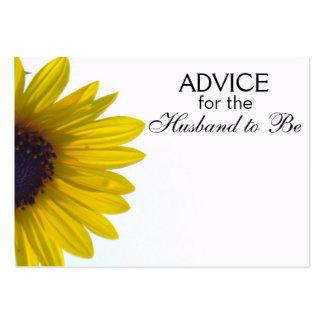 Consejo para que el marido sea tarjetas del tarjetas de visita grandes