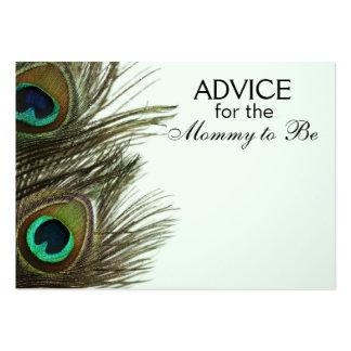 Consejo para que la mamá sea tarjetas de la pluma tarjetas de visita grandes