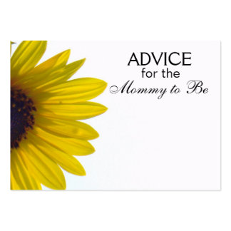 Consejo para que la mamá sea tarjetas del girasol  plantilla de tarjeta personal