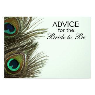 Consejo para que la novia sea tarjetas de la pluma tarjetas de visita grandes