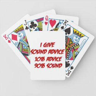 Consejo sano barajas de cartas
