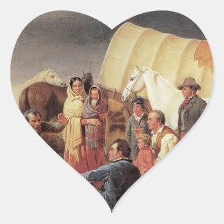 Consejo sobre la pradera pegatina en forma de corazón