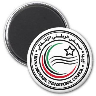 Consejo transitorio nacional del sello de Libia Imán Redondo 5 Cm