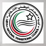 Consejo transitorio nacional del sello de Libia Posters