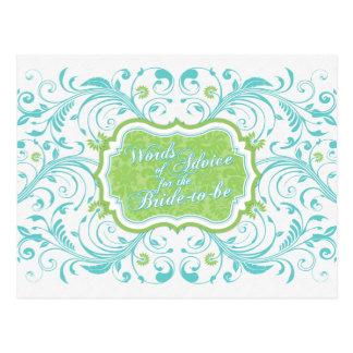 Consejos florales del verde azul para la novia