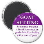 Consenso del edificio en el ajuste de la meta (3) imán de nevera