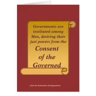 Consent of the Governed Card