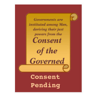 Consent of the Governed Post Card