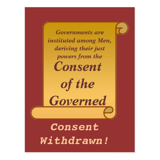 Consent of the Governed Postcard