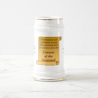 Consentimiento del gobernado taza de café