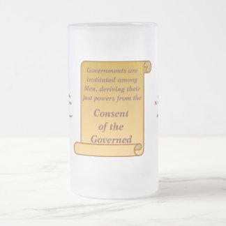 Consentimiento del gobernado tazas de café