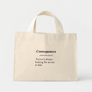 Consequences Definition Mini Tote Bag