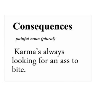 Consequences Definition Postcard