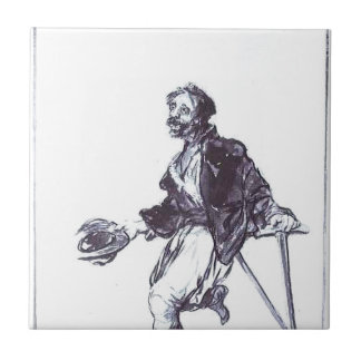 Consequences of War by Francisco Goya Ceramic Tile