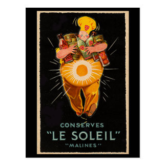 """""""Conserva: Publicidad del vintage de Le Soleil"""" Postal"""