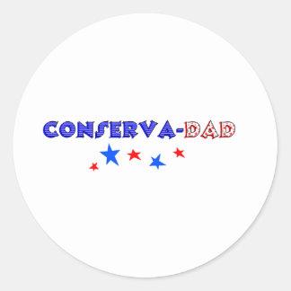 conservadad classic round sticker