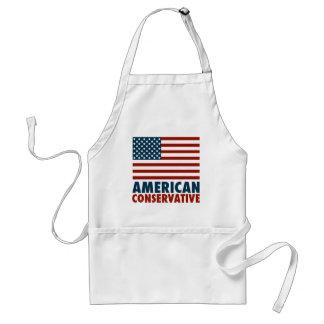 Conservador americano delantal