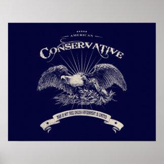 Conservador americano póster