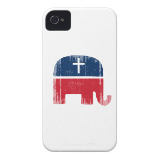 Conservador cristiano Faded.png iPhone 4 Case-Mate Fundas