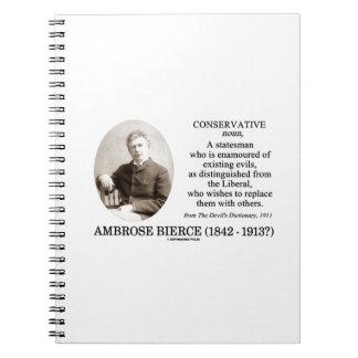 Conservador de Ambrose Bierce el diccionario del d Libro De Apuntes