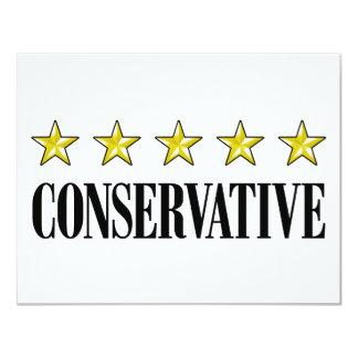 Conservador de cinco estrellas invitación 10,8 x 13,9 cm