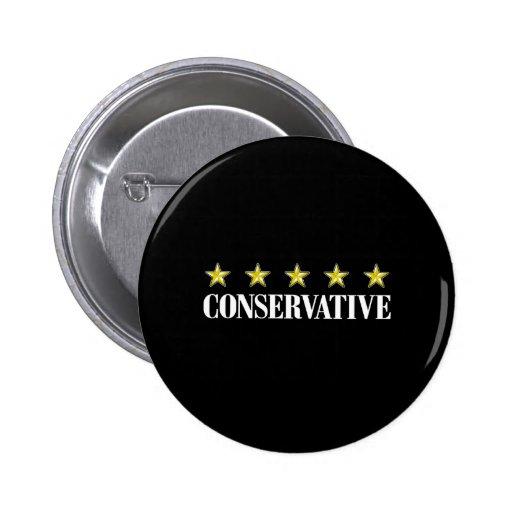 Conservador de cinco estrellas pin