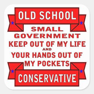 Conservador de la escuela vieja pegatina cuadrada