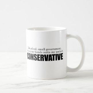 Conservador de la escuela vieja taza