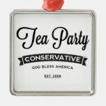 Conservador de la fiesta del té adornos