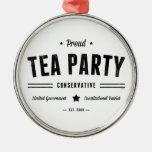 Conservador de la fiesta del té ornamentos de reyes