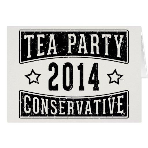 Conservador de la fiesta del té felicitación